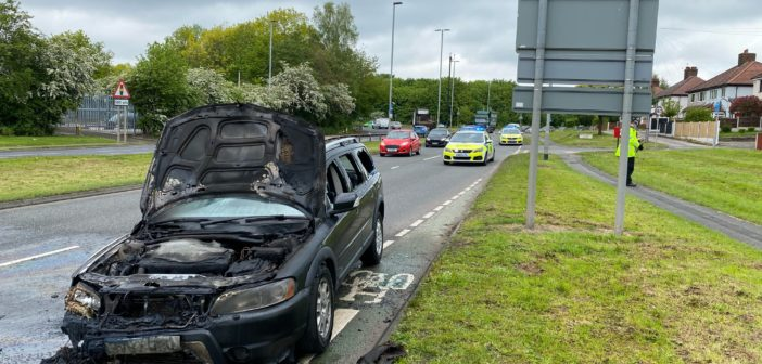 Car fire causes delays on Winwick Road